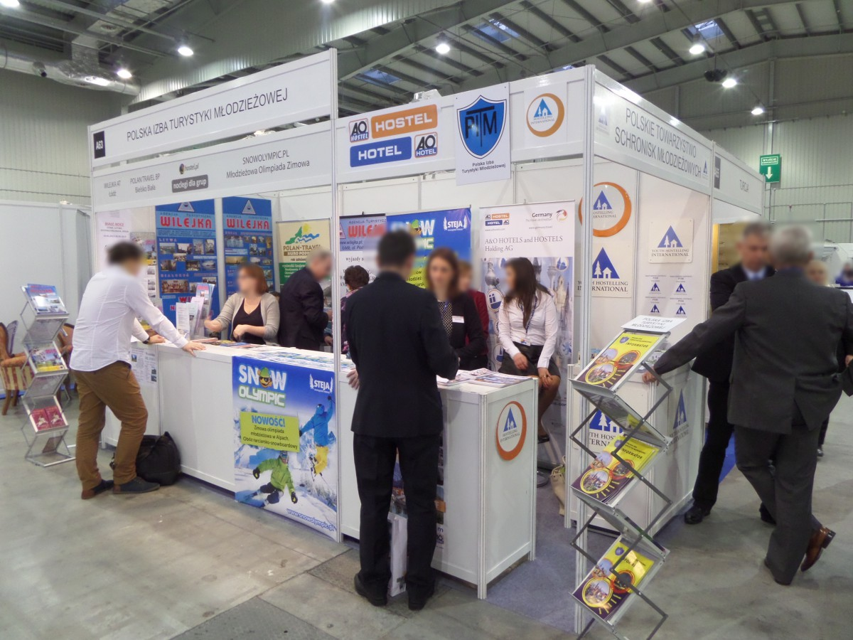 Company stand Hostel Service on trade show TT WARSAW 2014