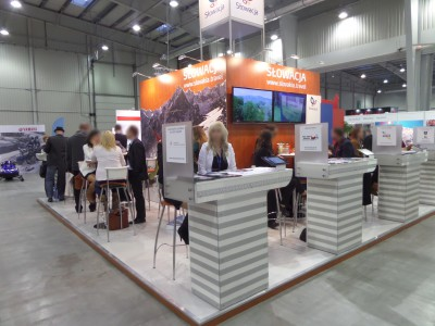 Company stand Slovak Tourist Board on trade show TT WARSAW 2014