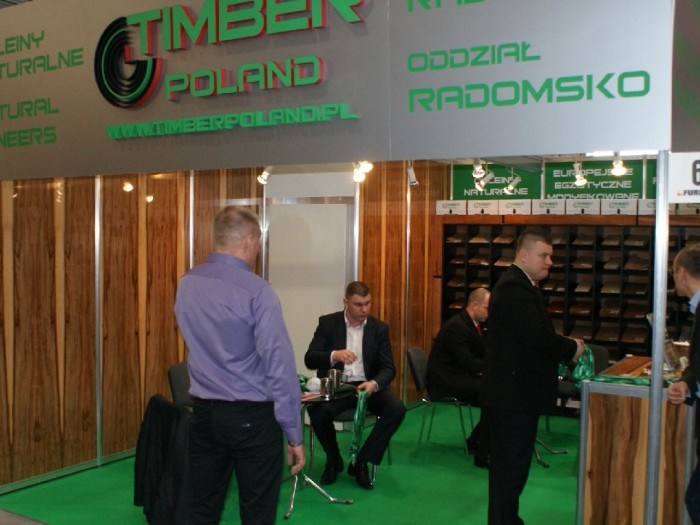 Company stand TIMBER POLAND s.c. on trade show FURNICA 2011