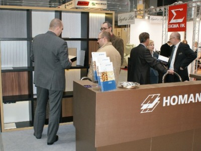 Company stand HOMANIT GmbH & Co. KG on trade show FURNICA 2011