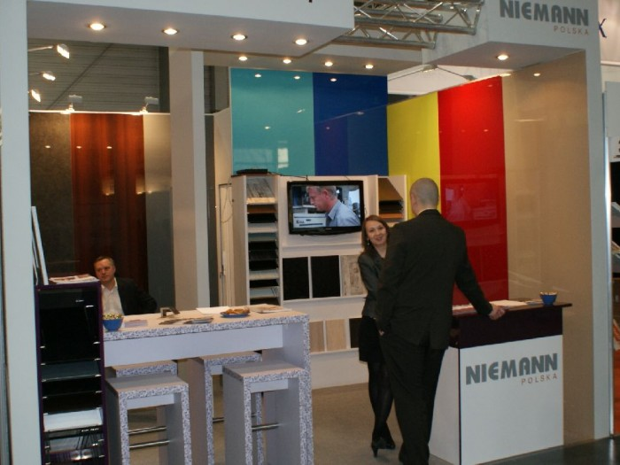 Company stand NIEMANN POLSKA Sp. z o.o. on trade show FURNICA 2011