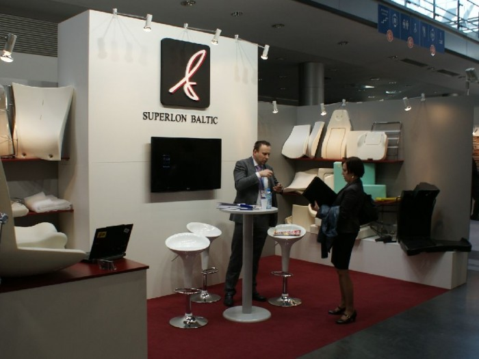 Company stand SUPERLON BALTIC UAB on trade show FURNICA 2011