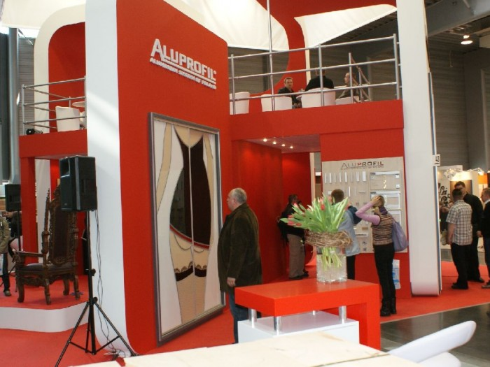 Company stand ALUPROFIL Sp. z o.o. on trade show FURNICA 2011