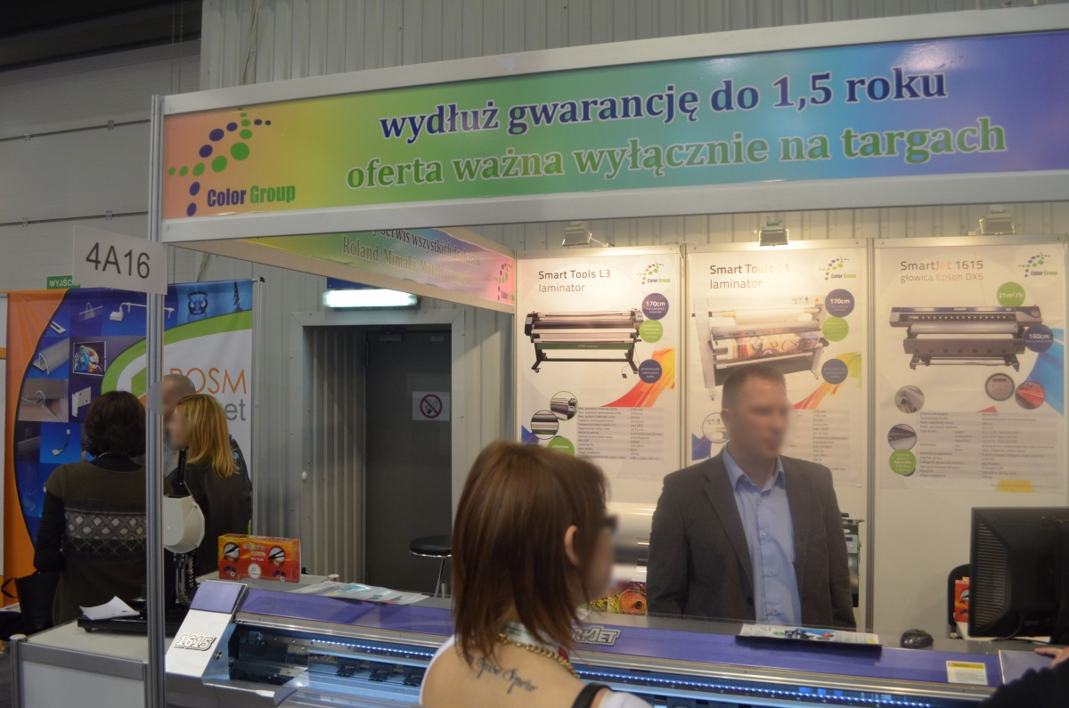 Company stand COLOR GROUP on trade show RemaDays Warsaw 2015