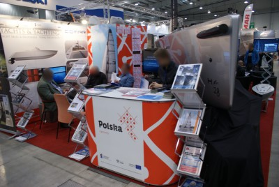 Company stand YACHTS and YACHTING Sp.z o.o. on trade show Targi Wiatr i Woda 2015