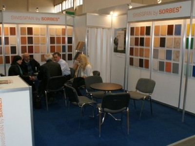 Company stand SWISSPAN LIMITED LLC  on trade show FURNICA 2011