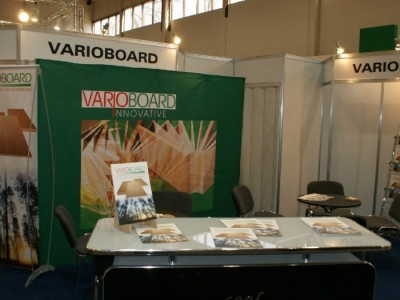Company stand VARIOBOARD GmbH on trade show FURNICA 2011