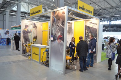Company stand WAGNER-SERVICE on trade show EXPO-SURFACE 2015