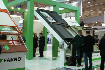 Company stand FAKRO Sp. z o.o. on trade show BUDMA 2015