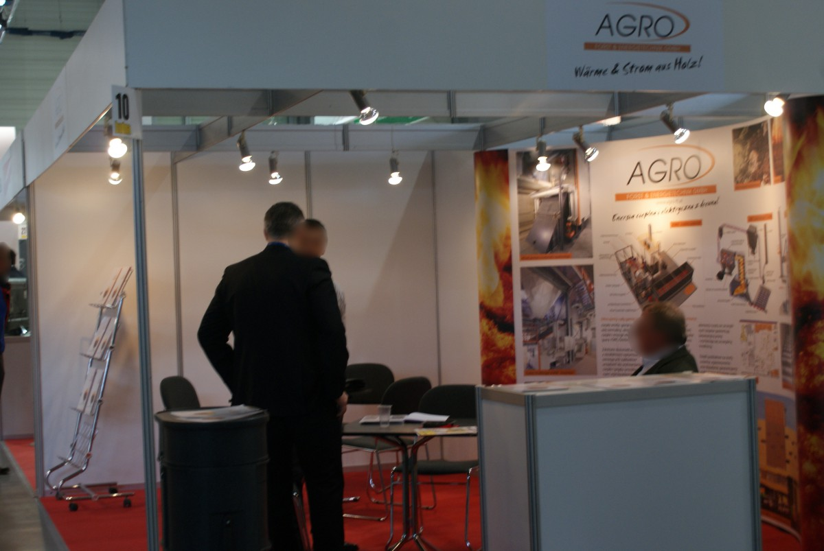 Company stand AGRO FORST & ENERGIETECHNIK GmbH on trade show BUDMA 2015