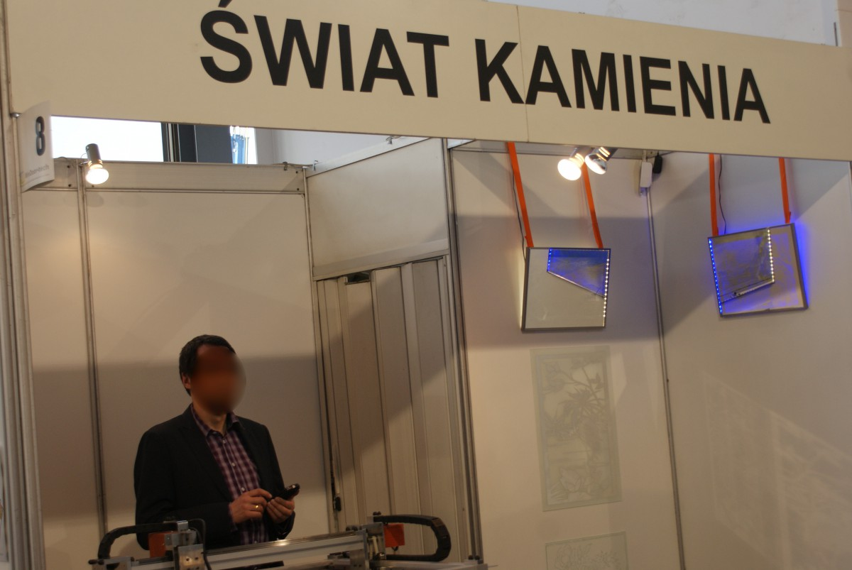 Company stand ŚWIAT KAMIENIA on trade show GLASS 2015