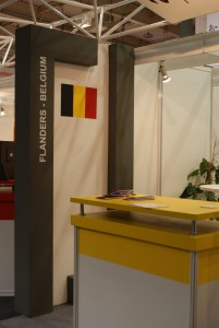 Company stand Flanders Investment & Trade on trade show BUDMA 2015