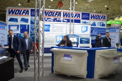Company stand WOLFA Friedrich Wolfarth GmbH & Co. KG on trade show BUDMA 2015