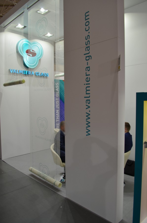 Company stand VALMIERA GLASS on trade show BUDMA 2015