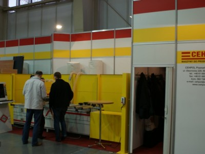 Company stand CEHPOL Sp. z o.o. on trade show DREMA 2011