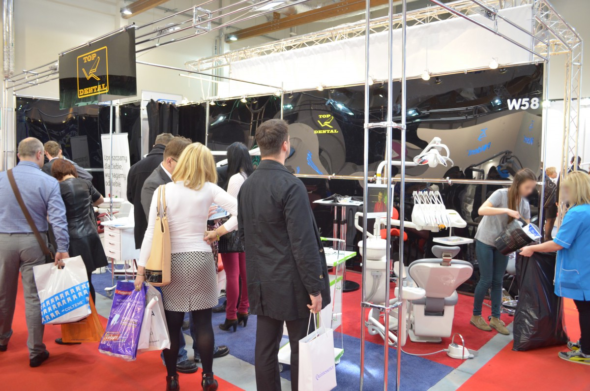 Company stand TOP DENTAL Sp.j. on trade show KRAKDENT 2015