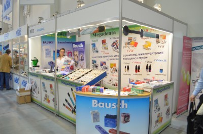 Company stand MEGADENTA on trade show KRAKDENT 2015