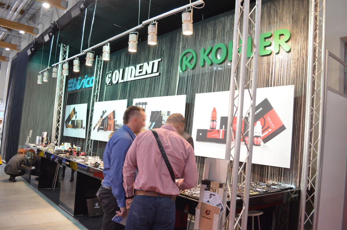 Company stand OLIDENT on trade show KRAKDENT 2015