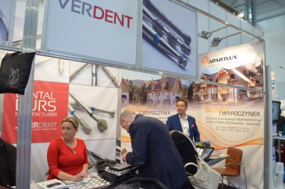 Company stand Verdent Sp. z o.o. on trade show KRAKDENT 2015