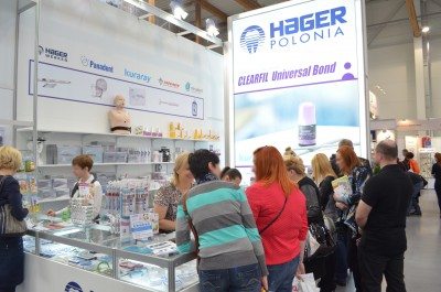 Company stand HAGER POLONIA Sp. z o.o. on trade show KRAKDENT 2015