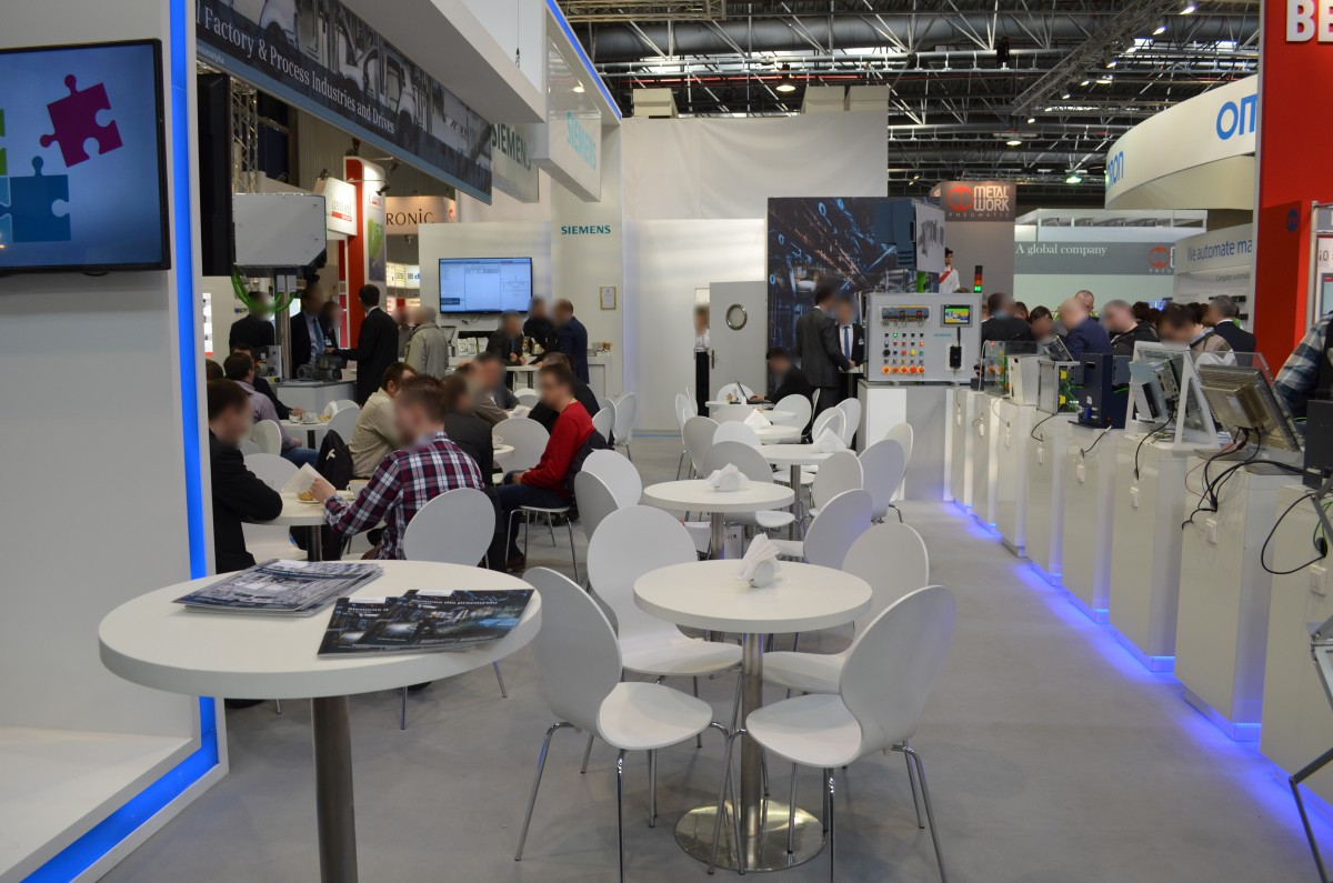 Company stand SIEMENS Sp. z o.o on trade show AUTOMATICON WARSZAWA 2015