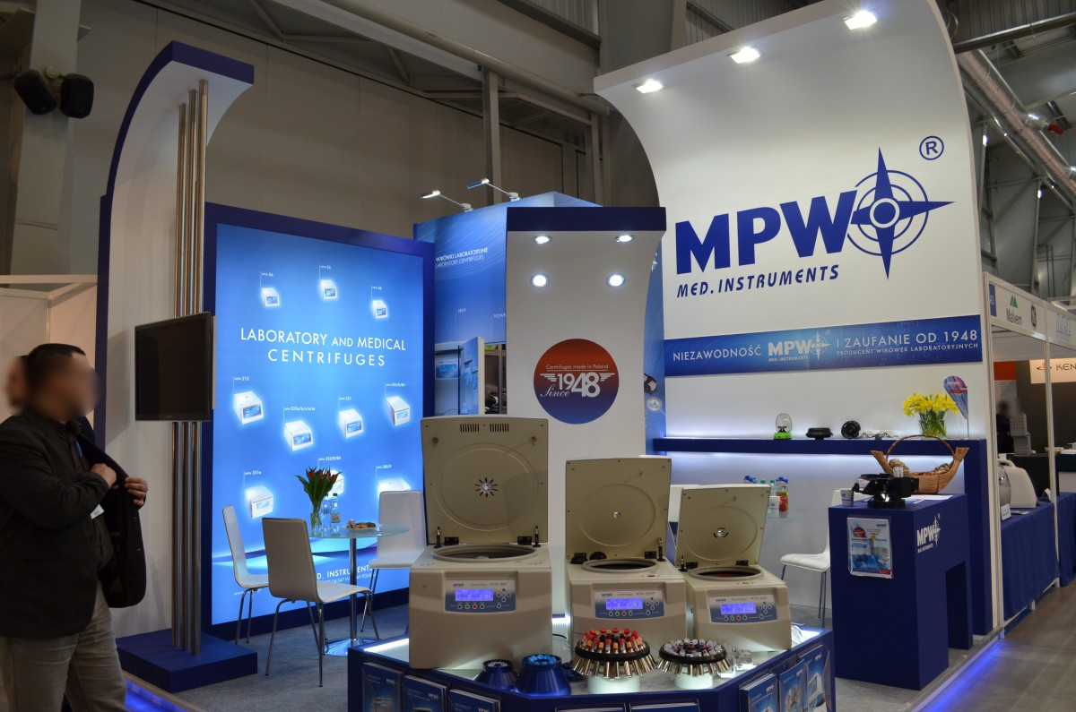 Company stand MPW Med. Instruments on trade show EUROLAB & CRIMELAB 2015