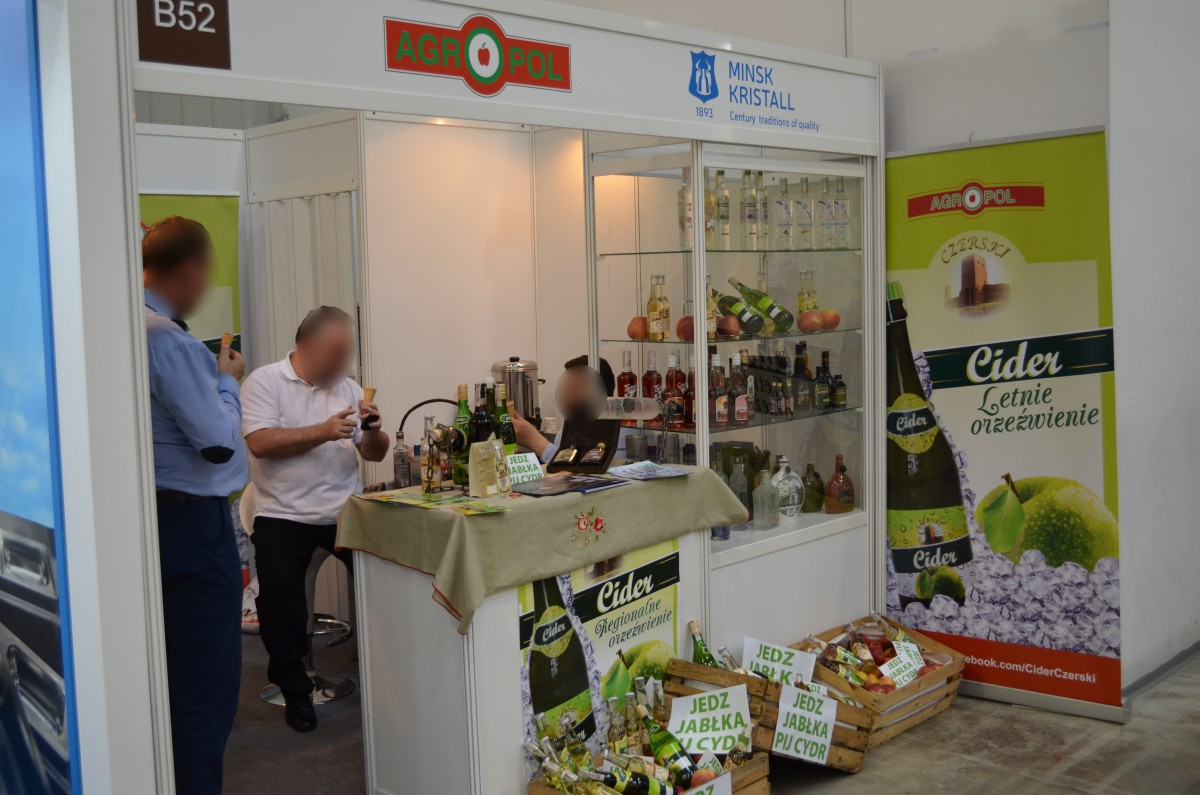 Company stand MINSK KRISTALL RUE on trade show EUROGASTRO 2015