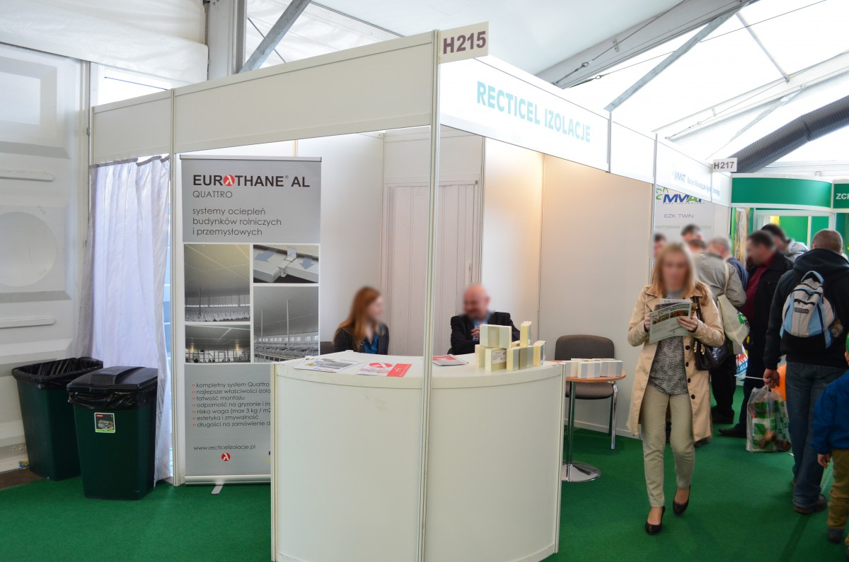 Company stand Recticel Izolacje Sp. z o.o. on trade show LAS-EXPO & AGROTECH 2015