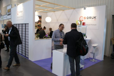 Company stand S-DRUK Druk Offsetowy UV on trade show PACKAGING INNOVATIONS WARSZAWA 2015