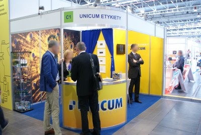 Company stand UNICUM on trade show PACKAGING INNOVATIONS WARSZAWA 2015
