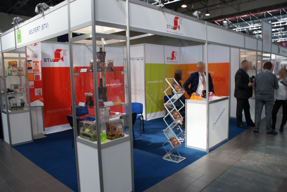 Company stand Seufert Transparente Verpackungen GmbH on trade show PACKAGING INNOVATIONS WARSZAWA 2015