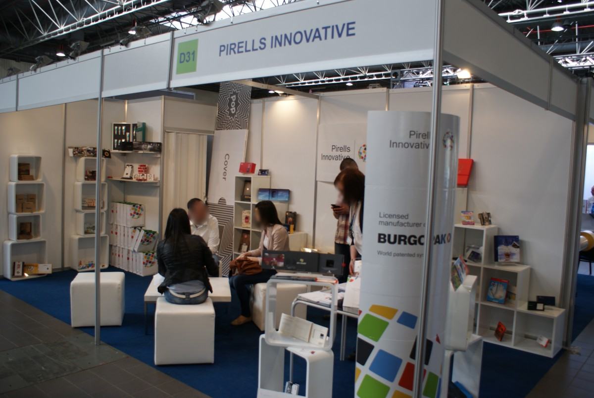 Company stand Pirells Innovative on trade show PACKAGING INNOVATIONS WARSZAWA 2015