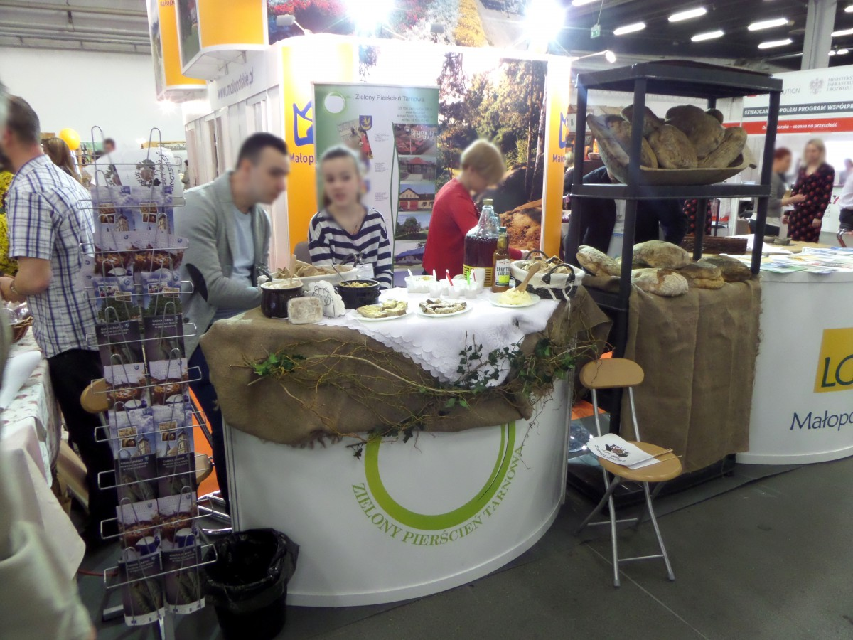 Company stand Lgd Zielony Pierścień Tarnowa on trade show AGROTRAVEL 2015