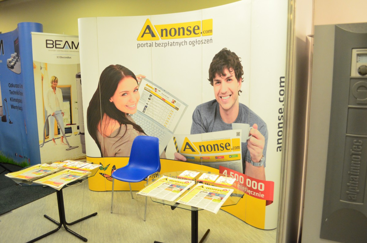 Company stand Anonse.com on trade show EXPO DOM 2015