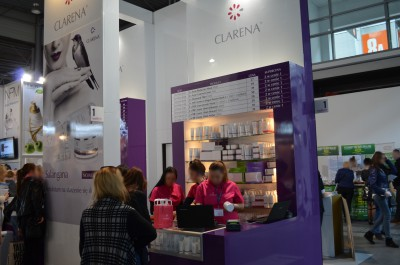 Company stand CLARENA on trade show beautyVISION 2015