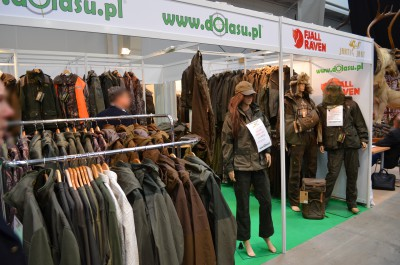 Company stand Fjallraven on trade show Hubertus Expo 2015