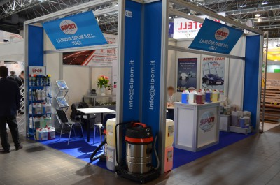 Company stand La Nuova Sipom S.R.L. on trade show ISSA/INTERCLEAN 2015