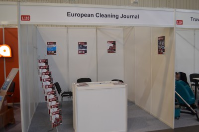 Company stand European Cleaning Journal on trade show ISSA/INTERCLEAN 2015