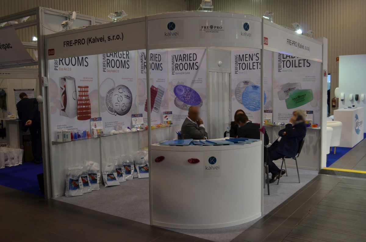 Company stand Kalvei, s.r.o. on trade show ISSA/INTERCLEAN 2015