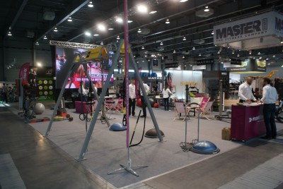 Company stand EKSPERTFITNESS.com on trade show FIT-EXPO 2015