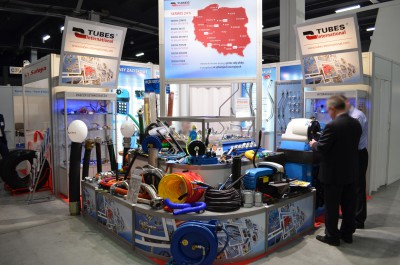 Company stand TUBES International Sp. z o.o. on trade show AUTOSTRADA-POLSKA & ROTRA & MASZBUD & EUROPARKING & TRAFFIC-EXPO-TIL 2015