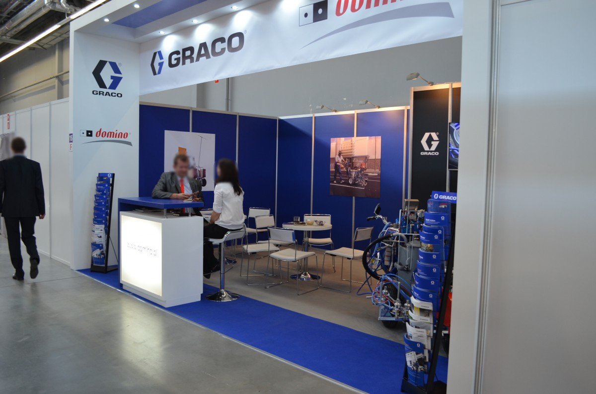 Company stand DOMINO Sp.j. on trade show AUTOSTRADA-POLSKA & ROTRA & MASZBUD & EUROPARKING & TRAFFIC-EXPO-TIL 2015