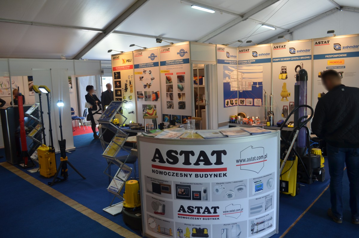Company stand ASTAT Sp. z o.o. on trade show Wod-Kan 2015