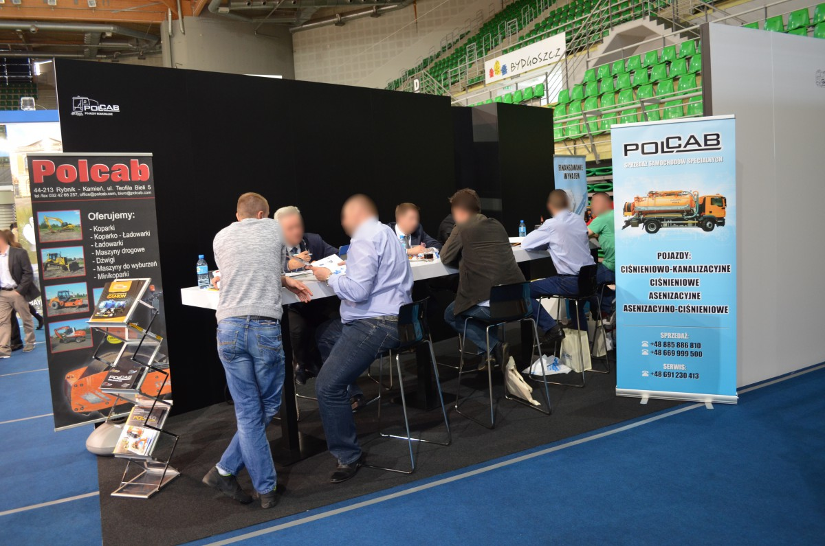 Company stand POLCAB N. Gamoń Sp.j. on trade show Wod-Kan 2015