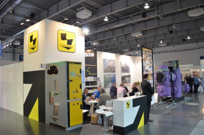 Company stand Elektrobudowa S.a. on trade show EXPOPOWER 2015
