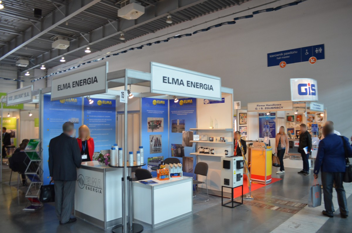 Company stand ELMA energia sp. z o.o. on trade show EXPOPOWER 2015