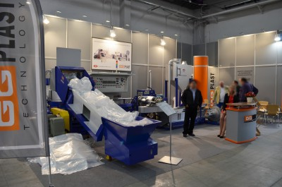 Company stand GG PLAST TECHNOLOGY on trade show PLASTPOL 2015