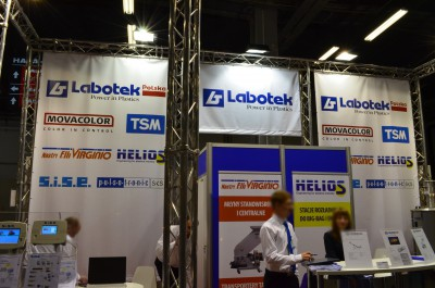 Company stand LABOTEK POLSKA on trade show PLASTPOL 2015