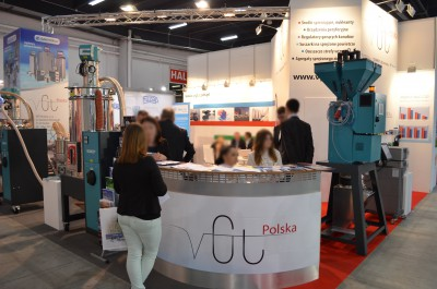 Company stand PROTEC POLYMER PROCESSING GmbH on trade show PLASTPOL 2015