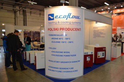 Company stand ECOFLOW Solutions for Plastic on trade show PLASTPOL 2015